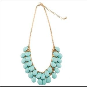Turquoise colored teardrop necklace
